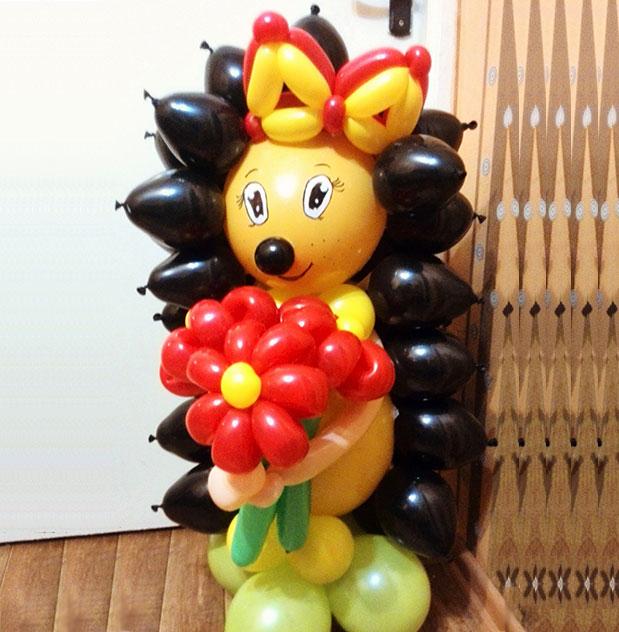 Ежик из воздушных шариков